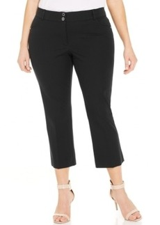 Alfani Plus Size Cropped Straight-Leg Pants