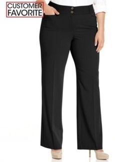 Alfani Plus Size Curvy-Fit Slimming Bootcut Pants