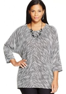 Alfani Plus Size Dolman-Sleeve Sweater