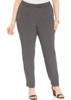 Alfani Plus Size Dot-Print Soft Pants