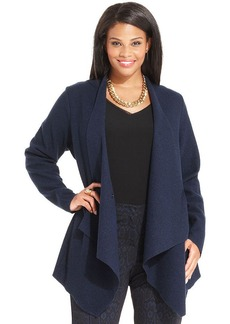 Alfani Plus Size Draped Asymmetrical Jacket