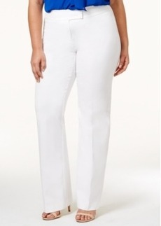 Alfani Plus Size Extended-Tab Trousers, Only at Macy's