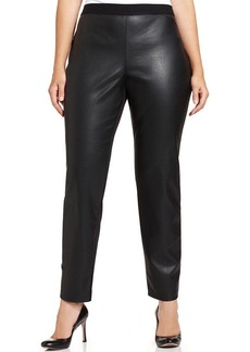 Alfani Plus Size Faux-Leather Snakeskin-Embossed Pants