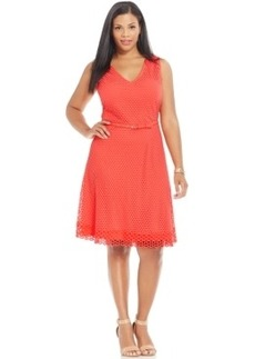 Alfani Plus Size Fit & Flare Lace Dress