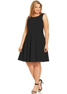 Alfani Plus Size Flared Scuba Dress