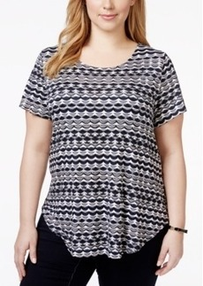 Alfani Plus Size Floral-Print Tee, Only at Macy's