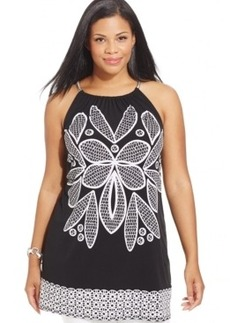Alfani Plus Size Graphic-Print Tunic