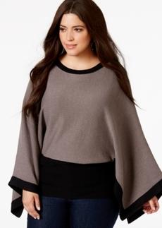 Alfani Plus Size Kimono-Sleeve Knit Top, Only at Macy's