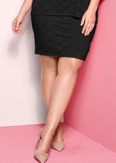 Alfani Plus Size Lace Pencil Skirt