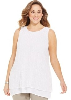Alfani Plus Size Layered-Look Sleeveless Sweater