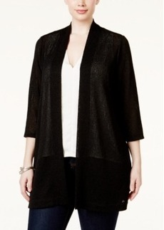 Alfani Plus Size Lightweight Long Cardigan, Only at Macy's