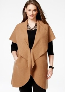 Alfani Plus Size Merino Wool Cape-Collar Sweater Vest, Only at Macy's