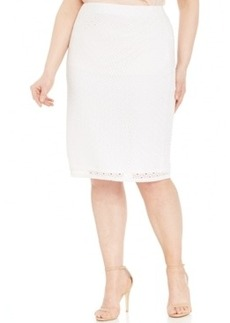 Alfani Plus Size Mesh Pencil Skirt