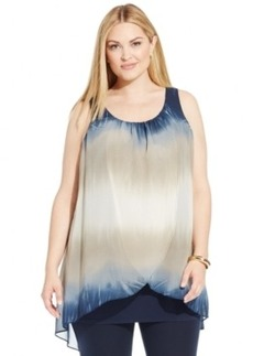 Alfani Plus Size Ombre Tiered Top