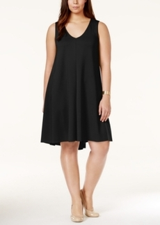 Alfani Plus Size Pleated Scuba Shift Dress, Only at Macy's