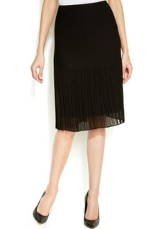 Alfani Release-Pleat Chiffon Skirt