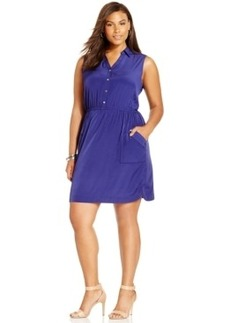 Alfani Plus Size Pocketed Shirtdress