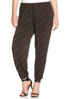 Alfani Plus Size Printed Soft Pants