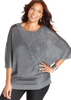 Alfani Plus Size Sequin Sweater