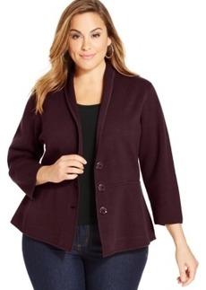 Alfani Plus Size Shawl-Collar Sweater Jacket