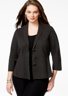 Alfani Plus Size Shawl-Collar Sweater Jacket, Only at Macy's