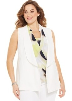 Alfani Plus Size Shawl-Collar Vest