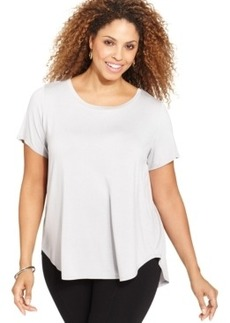 Alfani Plus Size Short-Sleeve Scoop-Neck Top