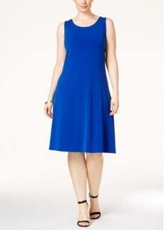 Alfani Plus Size Sleeveless A-Line Dress, Only at Macy's