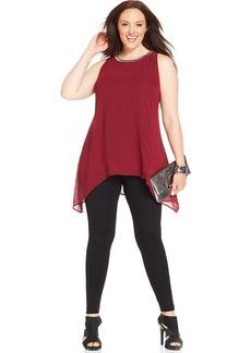Alfani Plus Size Sleeveless Beaded Tunic