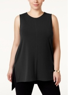 Alfani Plus Size Sleeveless High-Low Tunic, Only at Macy's