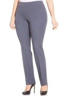 Alfani Plus Size Straight-Leg Pull-On Pants