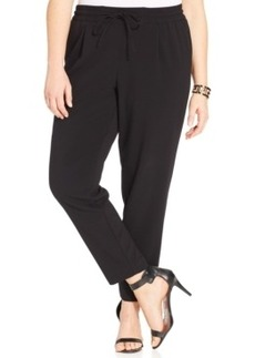 Alfani Plus Size Straight-Leg Soft Pants