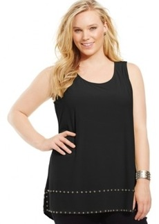 Alfani Plus Size Studded Tank Top