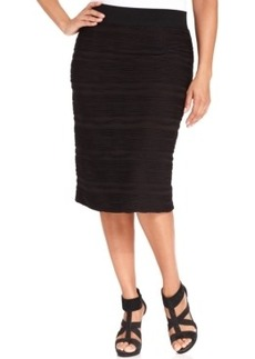 Alfani Plus Size Textured Pencil Skirt