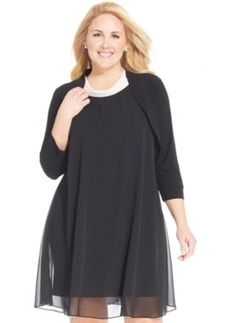 Alfani Plus Size Three-Quarter-Sleeve Bolero
