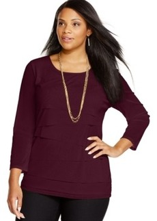 Alfani Plus Size Tiered Top