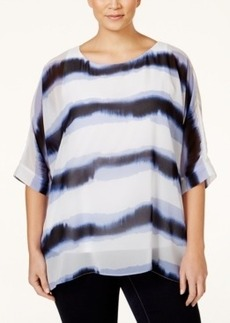 Alfani Plus-Size Tye-Dyed Oversize Top, Only at Macy's