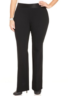 Alfani Plus Size Wide-Leg Pull-On Pants