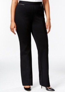 Alfani Plus Size Zip-Pocket Flare-Leg Pants, Only at Macy's