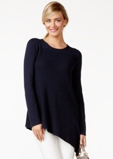 Alfani Prima Asymmetrical Ribbed Sweater, Only at Macy's