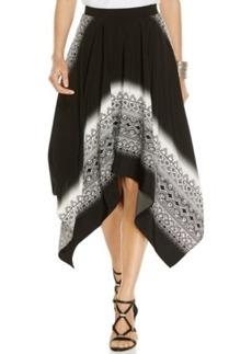 Alfani Prima Bandana-Print Handkerchief-Hem Skirt