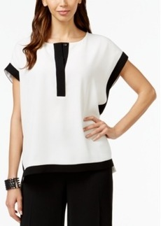 Alfani Prima Colorblocked Cap-Sleeve Top, Only at Macy's