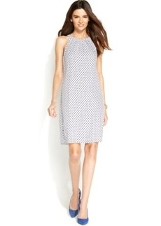 Alfani Prima Dot-Print Halter Shift Dress