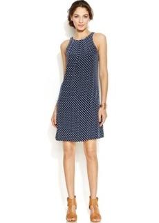 Alfani Prima Dot-Print Halter Shift Dress