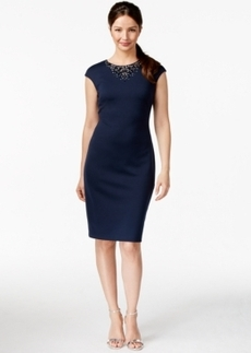 Alfani Prima Embellished Scuba Dress, Only at Macy's