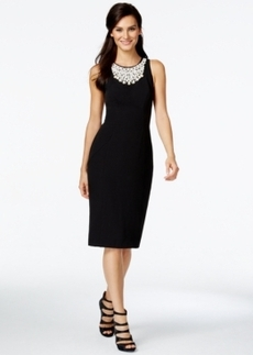 Alfani Prima Embellished Sheath Dress, Only at Macy's