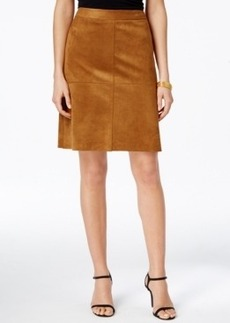 Alfani Prima Faux-Suede A-Line Skirt, Only at Macy's