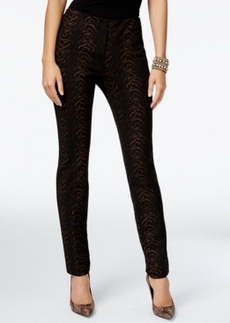 Alfani Prima Foil-Print Slim-Leg Pants, Only at Macy's