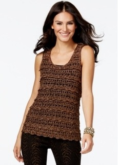 Alfani Prima Lurex Crochet Shell, Only at Macy's