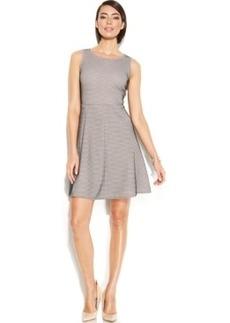 Alfani Prima Mesh Overlay A-Line Dress